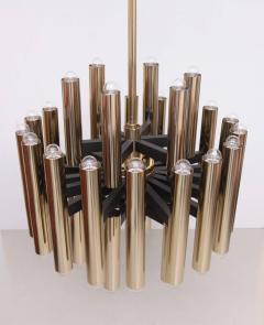 Sciolari 1 of 4 Extraordinary Huge Brass Mid Century Chandeliers in manner of Sciolari - 533816