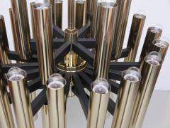 Sciolari 1 of 4 Extraordinary Huge Brass Mid Century Chandeliers in manner of Sciolari - 533818