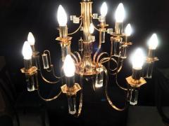 Sciolari Lighting Fine Crystal Sciolari Chandelier 1970s - 665782