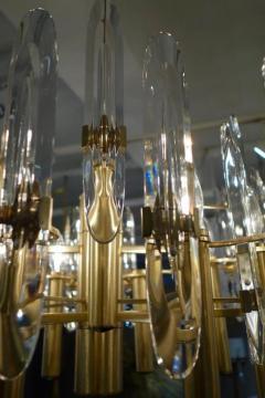 Sciolari Lighting Italian Mid Century Sciolari 12 Light Brass and Crystal Chandelier - 769283