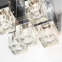 Sciolari Lighting Mid Century Modern Chrome and Murano Glass 5 Light Flushmount by Sciolari - 1648822
