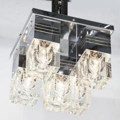 Sciolari Lighting Mid Century Modern Chrome and Murano Glass 5 Light Flushmount by Sciolari - 1648835