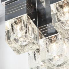 Sciolari Lighting Mid Century Modern Chrome and Murano Glass 5 Light Flushmount by Sciolari - 1648840