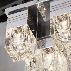 Sciolari Lighting Mid Century Modern Chrome and Murano Glass 5 Light Flushmount by Sciolari - 1648910