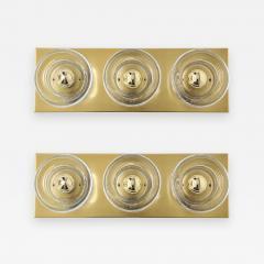 Sciolari Lighting Sciolari 3 Light Brass Sconces - 779546