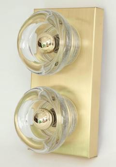 Sciolari Lighting Sciolari Cosack Brass and Glass Sconces - 912803