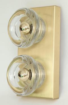 Sciolari Lighting Sciolari Cosack Brass and Glass Sconces - 912804