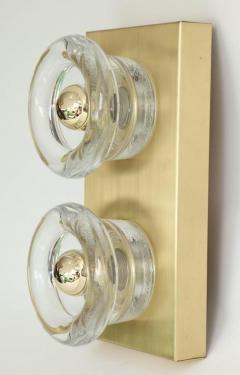 Sciolari Lighting Sciolari Cosack Brass and Glass Sconces - 912805