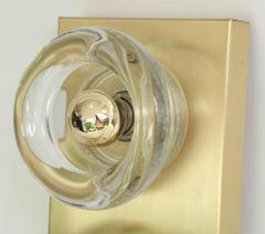 Sciolari Lighting Sciolari Cosack Brass and Glass Sconces - 912810