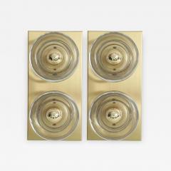 Sciolari Lighting Sciolari Cosack Brass and Glass Sconces - 912912
