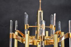Sciolari Sciolari Six Light Gold Plated Brass and Crystal Chandelier - 336543