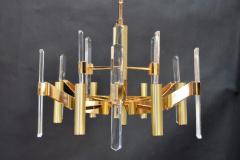 Sciolari Sciolari Six Light Gold Plated Brass and Crystal Chandelier - 336545