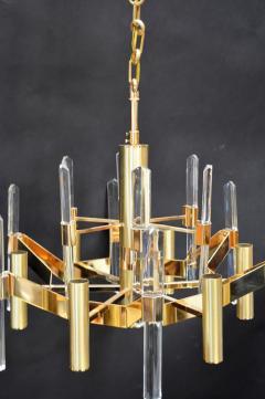 Sciolari Sciolari Six Light Gold Plated Brass and Crystal Chandelier - 336547