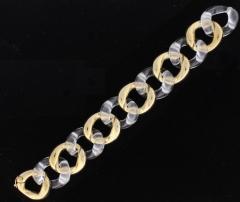 Seaman Schepps Seaman Scheeps Gold and Rock Crystal Link Bracelet - 1008913