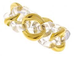 Seaman Schepps Seaman Scheeps Gold and Rock Crystal Link Bracelet - 1008914