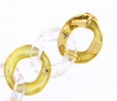 Seaman Schepps Seaman Scheeps Gold and Rock Crystal Link Bracelet - 1008915