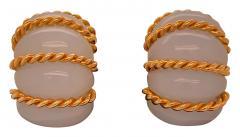 Seaman Schepps Seaman Schepps chalcedony shrimp earrings - 1474274
