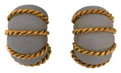 Seaman Schepps Seaman Schepps chalcedony shrimp earrings - 1474275