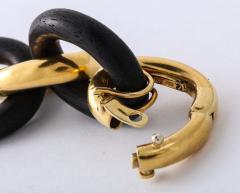 Seaman Schepps Vintage Seaman Schepps Gold and Ebony Classic Petit Link Bracelet - 1012201