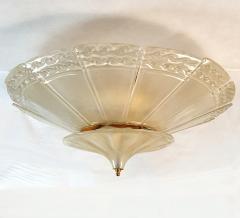 Seguso Large Mid Century Modern Murano Glass Flush Mount Chandelier Seguso St Italy 60s - 2132088