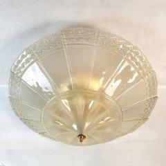 Seguso Large Mid Century Modern Murano Glass Flush Mount Chandelier Seguso St Italy 60s - 2132091