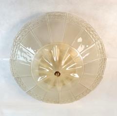 Seguso Large Mid Century Modern Murano Glass Flush Mount Chandelier Seguso St Italy 60s - 2132092
