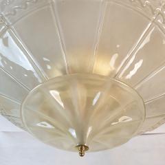 Seguso Large Mid Century Modern Murano Glass Flush Mount Chandelier Seguso St Italy 60s - 2132093