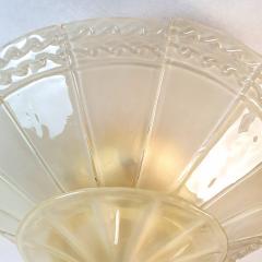 Seguso Large Mid Century Modern Murano Glass Flush Mount Chandelier Seguso St Italy 60s - 2132095