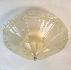 Seguso Large Mid Century Modern Murano Glass Flush Mount Chandelier Seguso St Italy 60s - 2132098