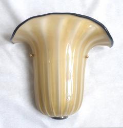Seguso Mid Century Modern beige Murano glass neoclassical sconces Seguso style Italy - 2007210