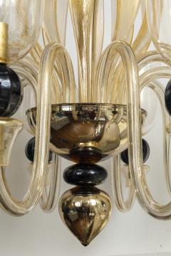 Seguso Modern Murano Blown Mercury Gold Ten Arm Uplight Chandelier by Seguso - 1643457