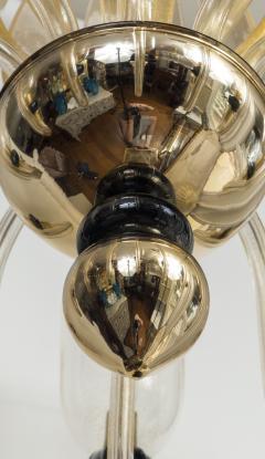 Seguso Modern Murano Blown Mercury Gold Ten Arm Uplight Chandelier by Seguso - 1643462