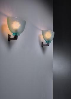 Seguso Pair of Seguso wall lamps Italy - 1257909