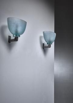 Seguso Pair of Seguso wall lamps Italy - 1257912