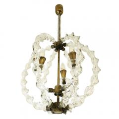 Seguso Seguso Attributed Murano Glass Pendant - 1195560