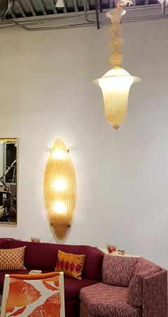 Seguso Seguso Yellow Murano Glass Lantern Mid Century Modern - 596331