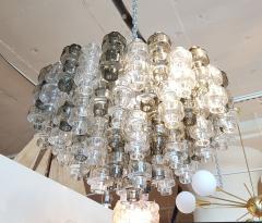 Seguso Vetri dArte Murano Glass Mid Century Modern Seguso Barbell Chandelier Flush Mount - 596886