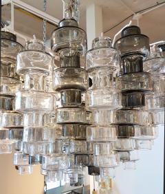 Seguso Vetri dArte Murano Glass Mid Century Modern Seguso Barbell Chandelier Flush Mount - 596887