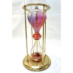 Seguso Vetri dArte Seguso Vetri dArte 1960s Italian Brass and Pink Glass Round Side End Table - 636331