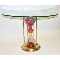 Seguso Vetri dArte Seguso Vetri dArte 1960s Italian Brass and Pink Glass Round Side End Table - 636335