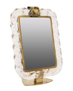 Seguso Vintage Murano Style Table Top Dressing Mirror After Seguso - 525834