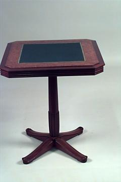 Selmercheim French Art Deco Square Mahogany And Amboyna Pedestal Base Flip  Top Game Table   428935