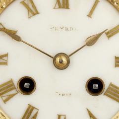 Sevres Manufacture Nationale de S vres Lapis lazuli gilt bronze and porcelain three piece clock set - 1256098