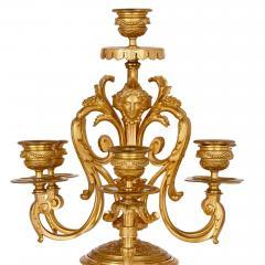 Sevres Manufacture Nationale de S vres S vres style gilt bronze mounted porcelain clock set - 1274502