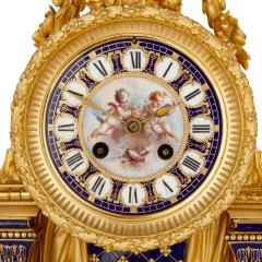 Sevres Manufacture Nationale de S vres S vres style gilt bronze mounted porcelain clock set - 1274504
