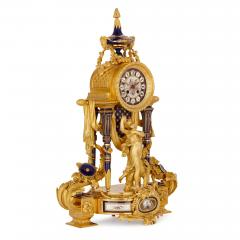 Sevres Manufacture Nationale de S vres S vres style gilt bronze mounted porcelain clock set - 1274507