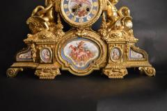 Sevres S vres Porcelain with Dor Bronze Clock - 336727