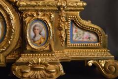 Sevres S vres Porcelain with Dor Bronze Clock - 336729