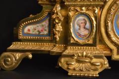 Sevres S vres Porcelain with Dor Bronze Clock - 336730