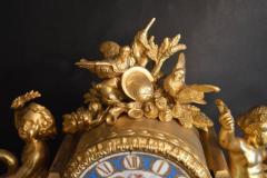 Sevres S vres Porcelain with Dor Bronze Clock - 336732